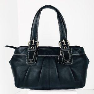 Coach Large Soho Black Leather Tote Shoulder Bag